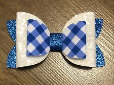 2 Packs Of Royal Blue With Stripe hair bow Clips//hair Accesories//School Uniform