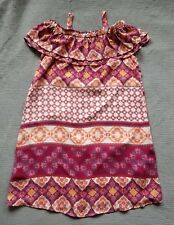 SPEECHLESS Boho Print Cold Shoulder Lined Dress, Girls 16. *Free Shipping*