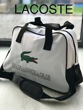 LACOSTE MENS GYM TRAVEL OVERNIGHT Bag HOLDALL Green Crocodile New & SEALED
