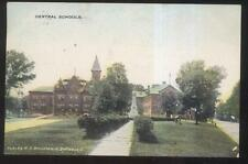 1909 Postcard Defiance Oh/Ohio Central School Campus Building