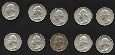 Silver Quarters 1964 Lot of 10 U.S. 25 Cents Coin with FREE, Fast Delivery