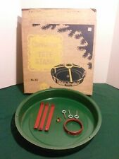 Vtg Antique Christmas Metal Tree Stand No. 20 Hamilton Monroe In Original Box