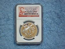 """2013 P Year of the Snake 1/2 oz NGC PF70 """"Early Release"""" Pop 29 From 3 Coin Set"""