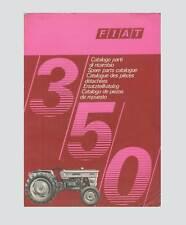 FIAT 350 Schlepper Traktor Ersatzteilliste Orginal 1971