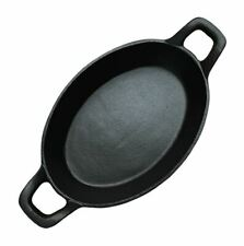 Cast Iron Cooking Dish Baking Dish Cast Iron Cookware Cast Iron Oval Pan Camping