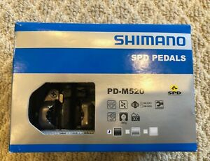 Shimano PD-M520 SPD Mountain Bike Clipless Pedals - No Cleats