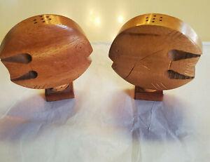 Vintage Hawaii Wood Fish Salt Pepper Shakers Hawaii Wooden Hawaiian Souvenir