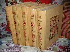 Histoire du Peuple Français Parias Pernoud 5vol bien Illustrés référence 1960