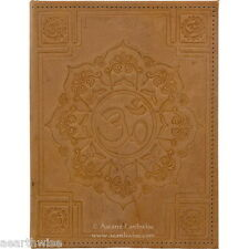 LOTUS OM LEATHER JOURNAL Witch Wicca Pagan Book of Shadows Goth Spell