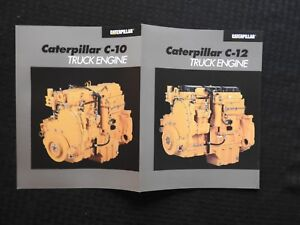 "1995 CATERPILLAR ""C-10 C-12 DIESEL ENGINE"" SEMI TRUCK APPLICATION BROCHURE MINTY"