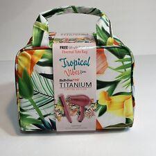 "BABYLISS PRO TITANIUM Travel Set 3/4"" Straightener & Hairdryer Tropical Tote Bag"