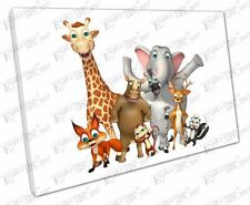 Cartoon Animals Art Prints