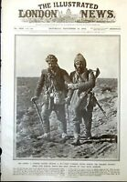 Old Antique Print Turkish Sier Wounded Comrade Retreat Lule Burgas 1912 20th