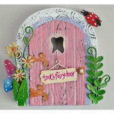 Miniatuare Kids Metal Opening Tooth Fairy Door Sculpture Ornament Keepsake Gift