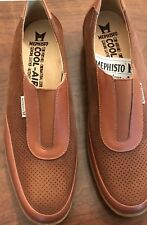Mephisto 100% Leather Upper (Women's) S 9 B Brown Flat Slip On Walking Shoes
