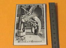 CHROMO 1920-1930 CATHOLICISME IMAGES PIEUSES HOLY CARD 1ERE COMMUNION ANGES
