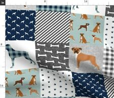 Boxer Dog Dogs Breed Cheater Quilt Nursery Fabric Printed by Spoonflower Bty