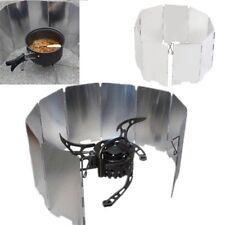 Foldable Mini 9 Plates Cooker BBQ Gas Stove Wind Shield Screen Picnic Camping AZ