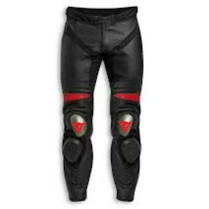 New Men's DUCATl Motorbike Racing Leather Pants in All Sizes.