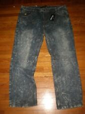 NWT ROCAWEAR CLASSIC FIT FADED BLEACHED WASHED JEANS  SZ: 46 X 34  RETAIL $84.00
