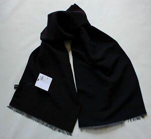 NWT Men's Ferragamo Cashmere Silk Carob Navy Scarf Rare $398