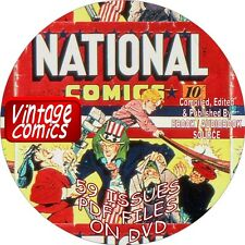 NATIONAL VINTAGE COMICS - 59 ISSUES - PDF FILES - ON DVD - STARRING UNCLE SAM