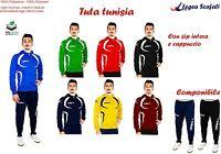 Tuta Tunisia Legea Con Cappuccio Sport Divisa Uomo Bambino Allenamento