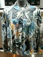 NWOT~ZARA Women's~Size Small~Tropical Floral Lightweight Bomber Jacket