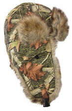 Dakota Dan Hunting Camp Camo Camouflage Winter Trapper Hat Faux Rabbit Fur Hat
