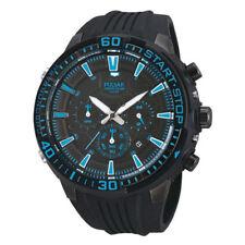 Pulsar Men's 50mm Chronograph Black Plastic Mineral Glass Quartz Watch PT3507