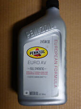 Best AllSeason PENNZOIL Euro AV 5W-30 Full Synthetic Motor Oil - 5 Quarts