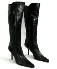 SERGIO ROSSI - Boots heels 9.5 cm tips sharp/ pointed black leather 39 MINT