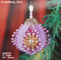 NOS LeeWards 1973 RHINESTONE STARBURST Mini Boutique 3'' High Ornament Kit Japan