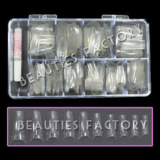 500x Transparent Ongles Artificiels avec Pointe Boîte Colle 4 Ongle Extensions