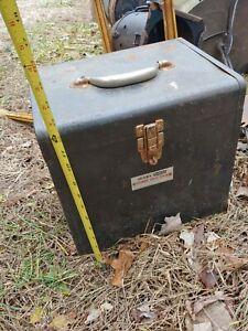 Vintage Sears Craftsman Tool Box contractors box lock top heavy duty industrial