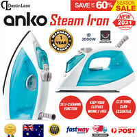 Portable Steam Iron Electric Ironing Blue Garment Clothes Steamer Handheld 2000W