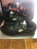 Vintage Nike 1980s Low Top Black Leather Nike Shoes Size 6.5 Rare