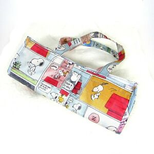 """Snoopy Peanuts Insulated Lunch Shopping Bag Tote Cooler 11""""x10""""x5"""""""