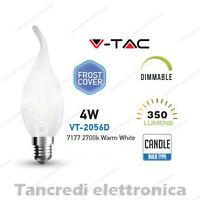 Lampadina led V-TAC dimmerabile 4W E14 bianco caldo 2700K VT-2056D fiamma bianca