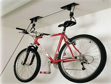 Bicycle Ceiling Storage Rack Pulley + Extra Strap Up To 30KG Kayak Canoe Dinghy