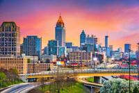 Atlanta Georgia Skyline at Twilight Photo Art Print Mural Poster 36x54 inch