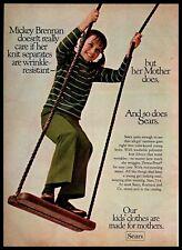 1969 Sears Children Clothing Girl Swings StripedSweater Vintage PRINT AD 1960s