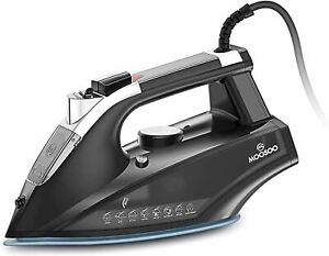 MOOSOO Steam Iron, 1800W Lightweight Portable Steam-Dry Iron for Clothes, Non-St