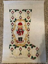 Strictly Christmas Hand Painted Needlepoint Canvas - Large Nutcracker Stocking