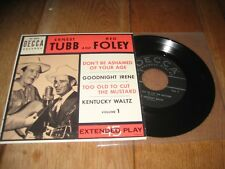 Tubb & Foley.EP.A1.Don't be ashamed of your age.A2.Goodnight Irene.(1285)