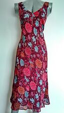 COAST slip-on floral dress size 10 Bellow Knee Lined --BRAND NEW--