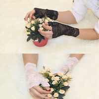 Women's Vintage Sunscreen fingerless Gloves Driving Anti-uv Lace Party Gloves t