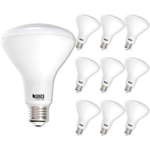 Sunco Lighting 10 Pack BR30 LED Bulb 11W=65W, 4000K Cool White, 850 LM, E26...