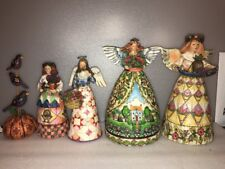 "Jim Shore Heartwood Creek Angel (5) Figurines 8"" To 11"""