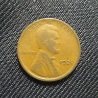 1921-P Lincoln Wheat Cent Penny!! With Fast Free Shipping!!!